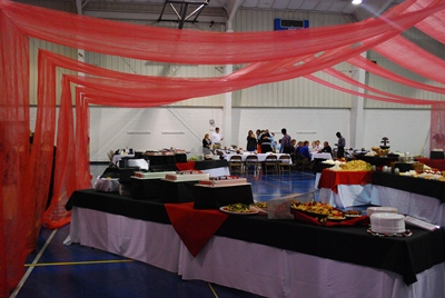 2012 Homecoming Banquet, under the big tent