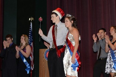 Andy Krutsinger and Christina Carter, 2012 Homecoming King and Queen
